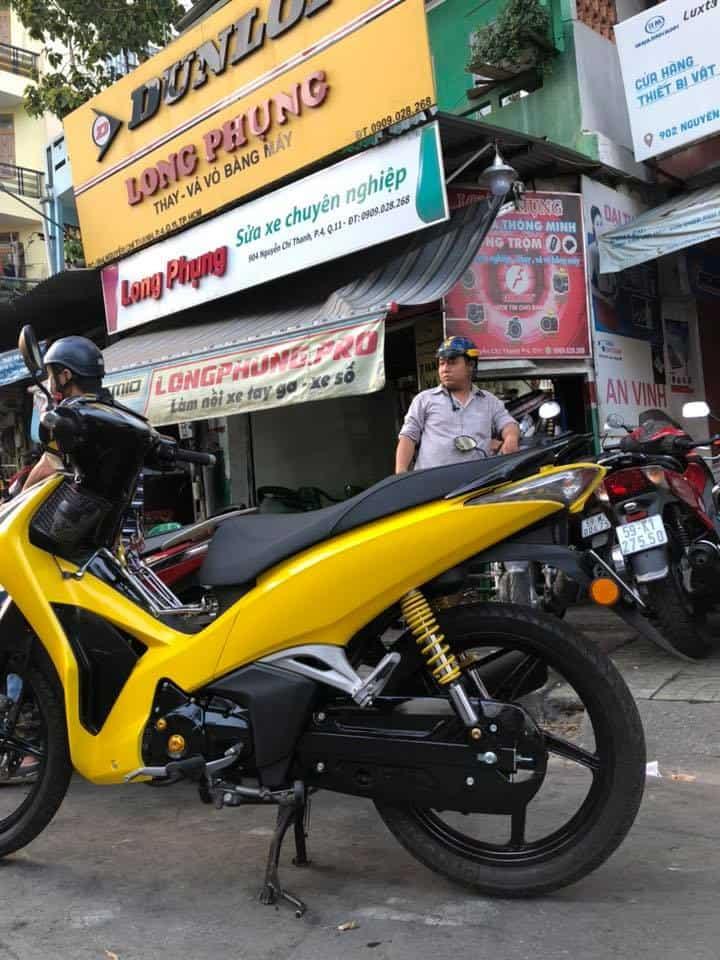 Sơn xe máy miễn phí tại long phụng